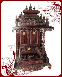 Awesome Rosewood Pooja Mandir PM001. Wooden Home Temple