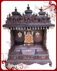 Pooja Mandir Wooden Puja Designs Teak Wood Models Home Temple