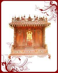 Wooden Pooja Temple Sale