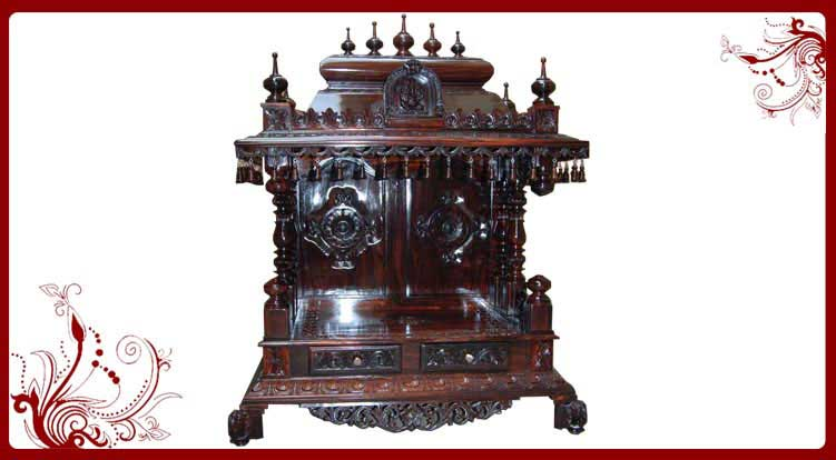 Rosewood home temple for sale wood temple price pooja