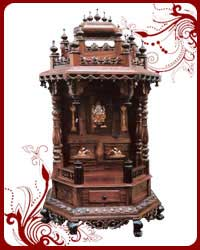 Home Temple Wooden Puja Designs Teak Wood Models Pooja Mandir