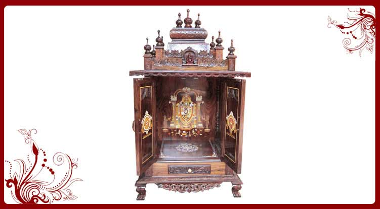 Door Mandir Designs | Wood Temple USA | Pooja Mandir Models
