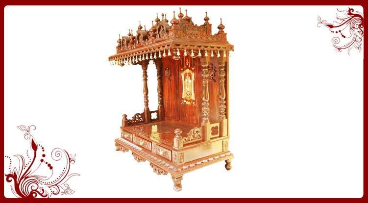 Buy Wooden Temple Online | Wooden Temple | Pooja Mandir Designs