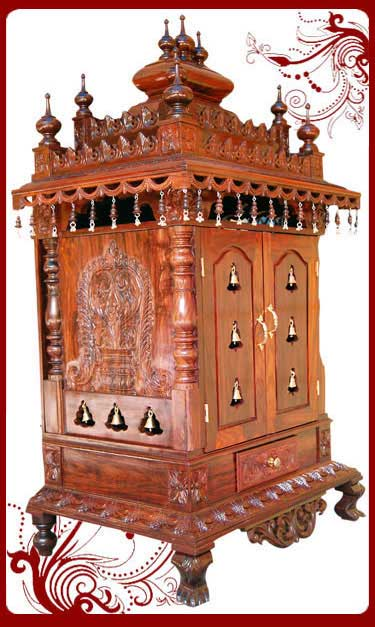 Wooden Pooja Temple Home Pooja Mandir Sale