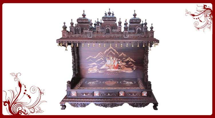 Mandir temple sale uk wooden temple pooja mandir for Wooden temple for home designs