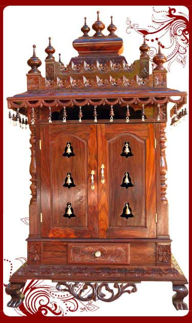 Wall Mounted Pooja Mandir Designs Home temple wooden puja designs teak ...