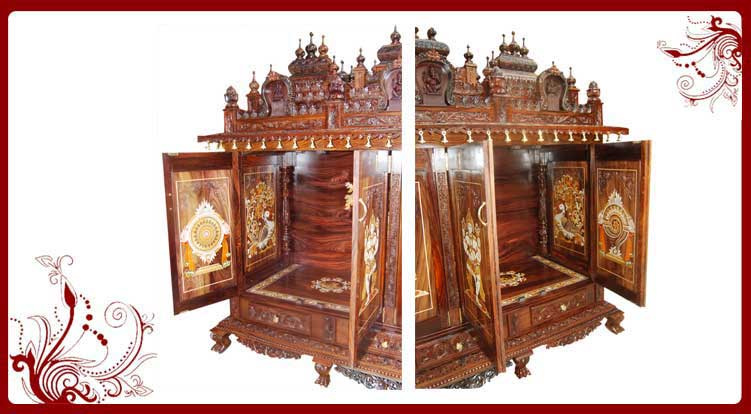 Wooden Pooja Mandir USA | Wooden Pooja Mandir for Home Sale in USA