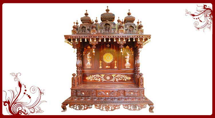 Hindu Pooja Mandir Wooden Temple