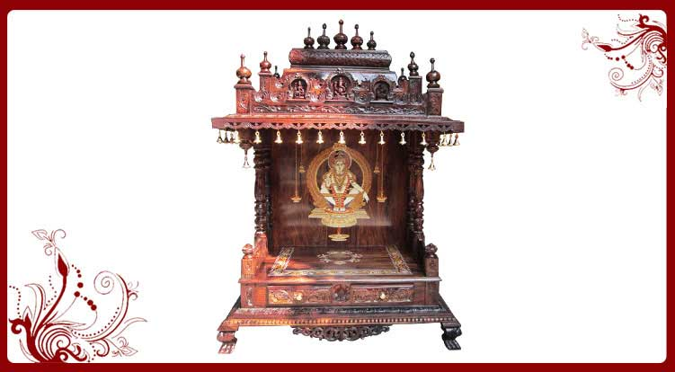 Rosewood Carved Temple Designs | Home Temple Models | Pooja Mandir