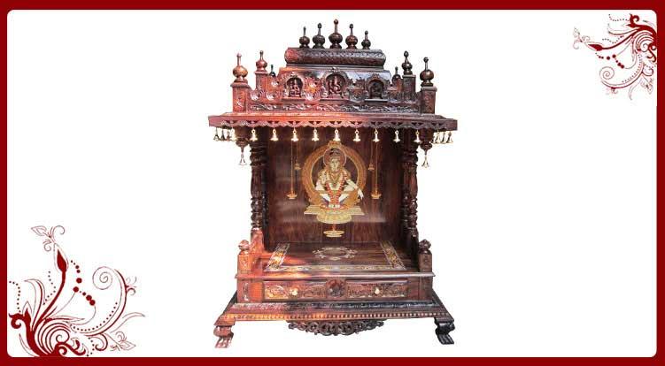 Rosewood Carved Temple Designs   Home Temple Models   Pooja Mandir