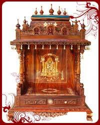 Home Temple | Wooden Puja Designs | Teak Wood Models | Pooja Mandir