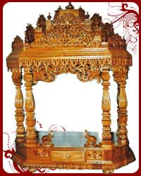 Home Temple Wooden Puja Designs Teak Wood Models Pooja