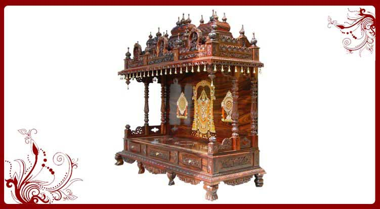 traditional wood mandir