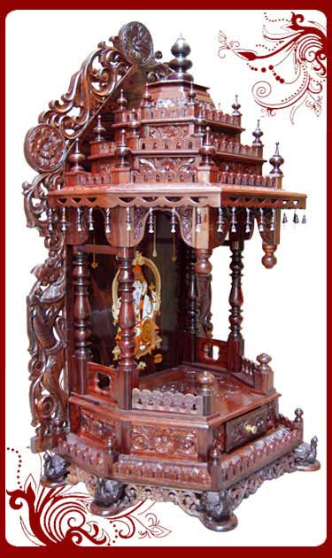 Rosewood Temple Designs For Home Pooja Mandir