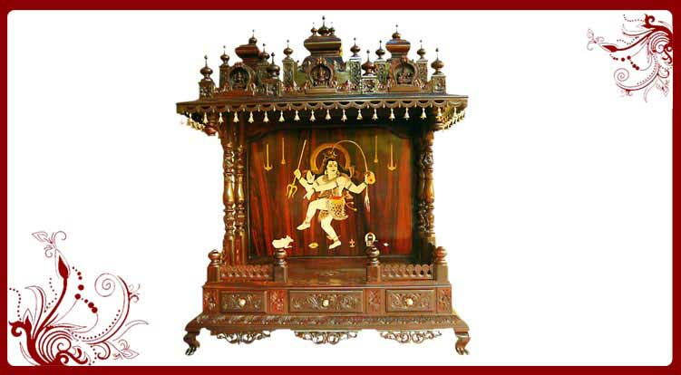 House Warming Gifts Wood Temple For Home Pooja Mandir Models