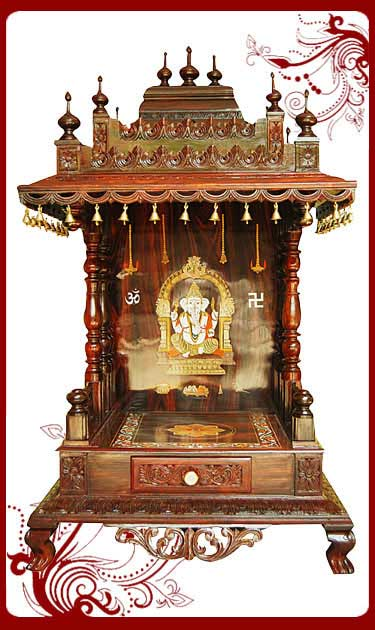 wooden pooja mandir models sale uk