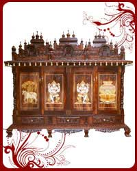 Home Temple Wooden Puja Designs Teak Wood Models
