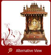 wooden puja mandir sale usa