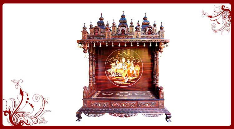 Awesome Wooden Temple Designs Chicago. Wood Mandir Home Chicago
